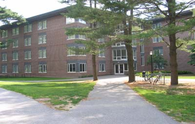 front entrance of chamberlain hall