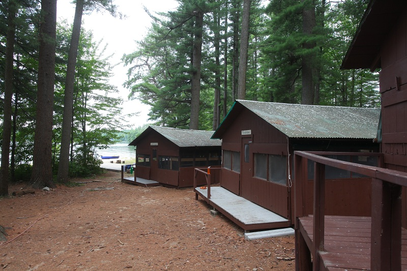 Fronts of boys' cabins